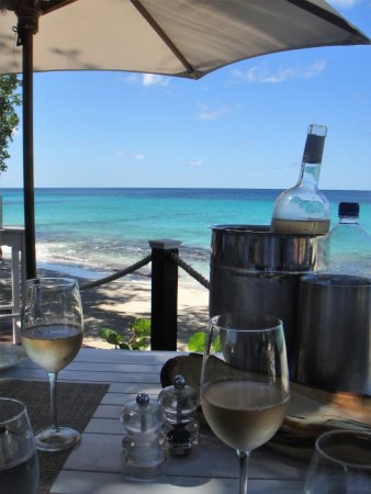 Mustique: View from our table