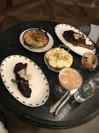 Oxon Hill, MD: Bone-in Ribeye, Hanger Steak, Potato Gratin and Macaroni and Cheese