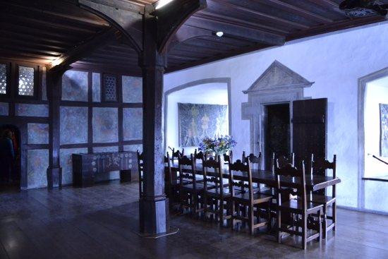 Marksburg: Comedor, la conservación de éste es impresionante
