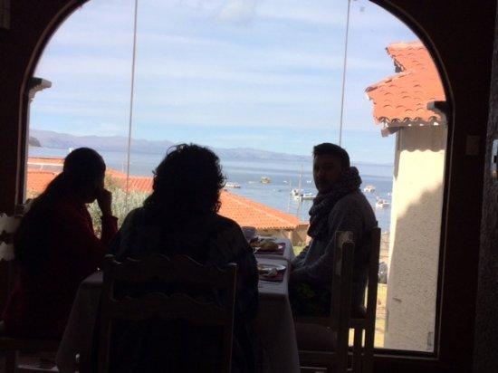 Hotel Rosario Lago Titicaca: Vista desde el comedor