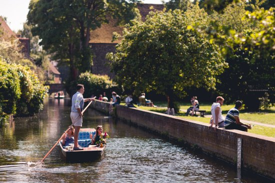 Canterbury, UK: In the heart of the city, with views of Solly's orchard and the Blackfriars
