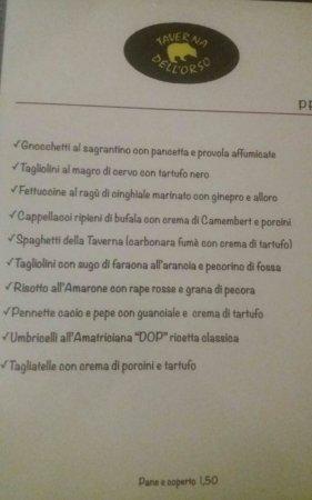 Sant'Egidio, Italy: menù