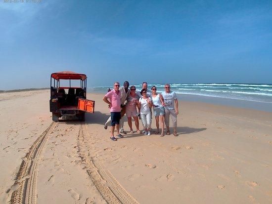 Mbour, Senegal: sur la plage du rally paris dakar