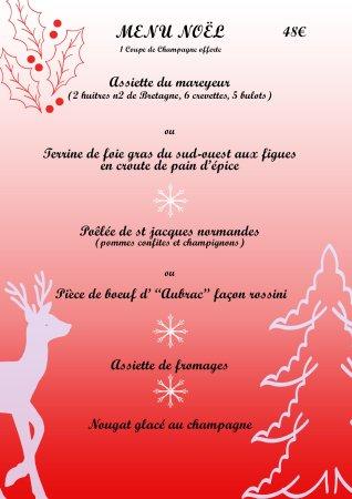 Viry-Chatillon, Frankrike: Menu dégustation de Noël !(Disponible le 24 Décembre 2017 au soir uniquement)