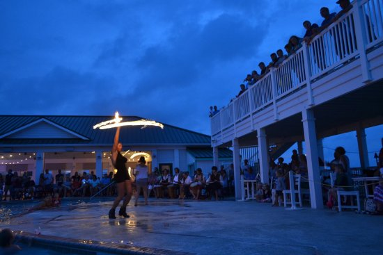The Villas at Koru Village: Firedancing at our 4th of July celebration