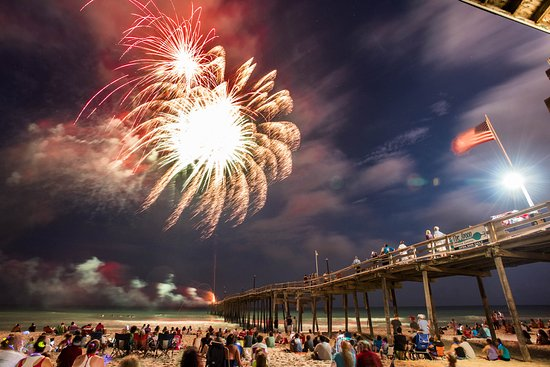 The only 4th of July Fireworks on Cape Hatteras happen at the Avon Pier!