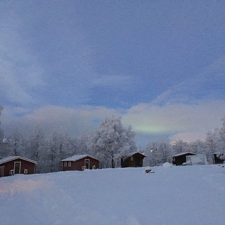 Are, สวีเดน: Nice winter morning in Åre camping.