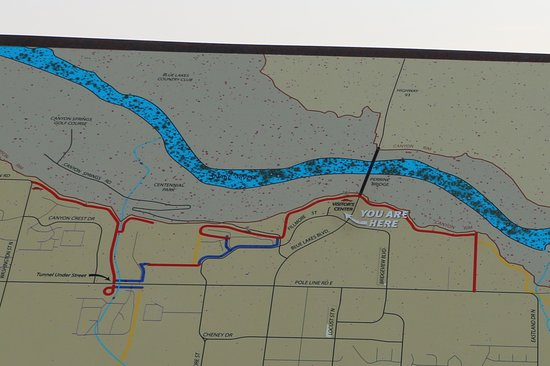 Snake River Canyon Trail: Trail Map at visitor center