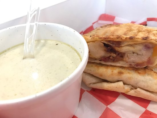 Bbq Chicken Wrap Chicken Velvet Soup Picture Of