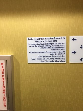 East Brunswick, NJ: Sign on the 4th floor designating it as a quiet zone