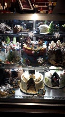 Oldbury, UK: Our new festive cake cabinet