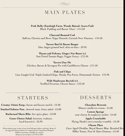 Chippenham, UK: Delicious menu.