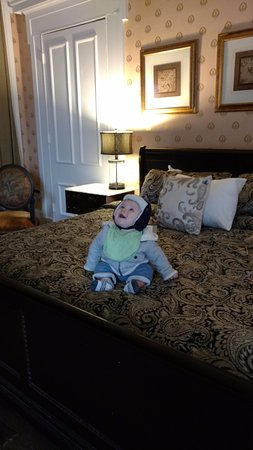Our 8 month old visiting the Linden Row Inn for the first time!