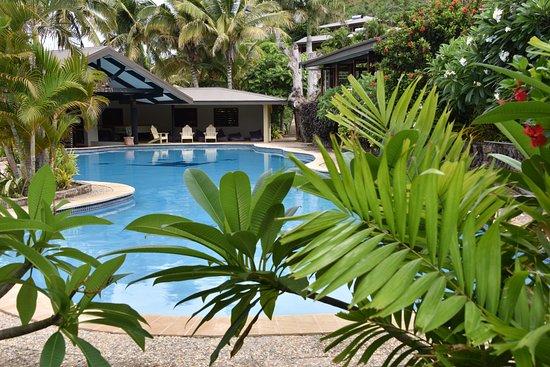 Rakiraki, Fiji: das großzügige Pool mit Poolbar