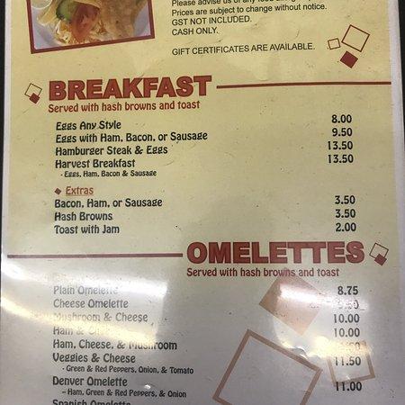 Okotoks, Canadá: Current menu