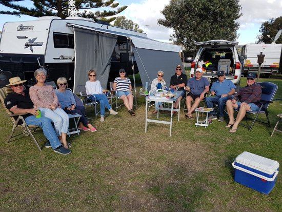 Jetty Caravan Park Normanville: A wonderful group of friends enjoying all our Park has to offer