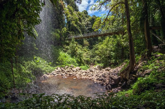 Dorrigo, Australia: from behind the waterfall