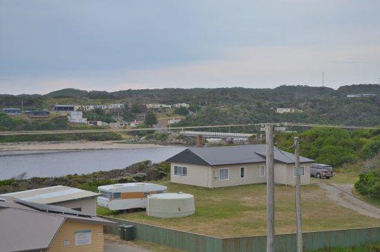Arthur River, Australia: View from Balcony looking east towards bridge