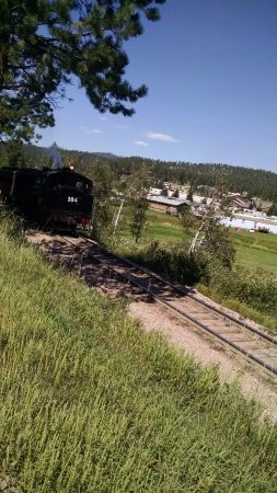Hill City, SD: 1880's train coming 'round the bend