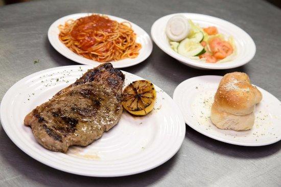 Bari Pizza: N.Y. Strip steak