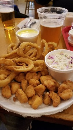 Cortland, NY: Scallops and onion rings