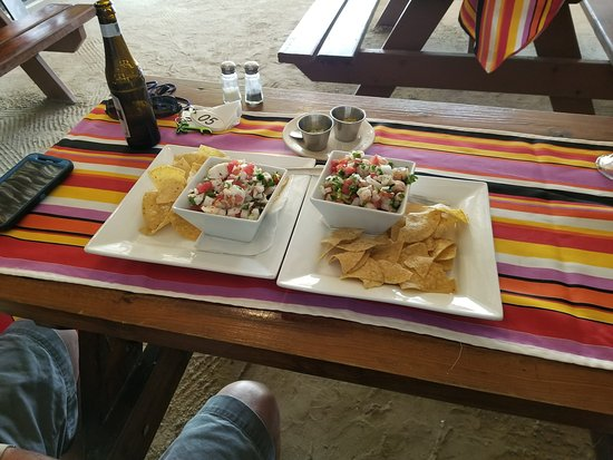 El Fogon: Freshly Made Shrimp and Lobster Ceviche -- Fabulous!!!