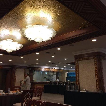Anshan, Kina: Завтрак на втором этаже