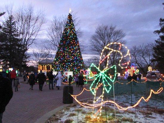 naper settlement the christmas light display