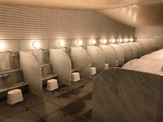 Rusutsu-mura, Japan: 浴場 男 洗い場