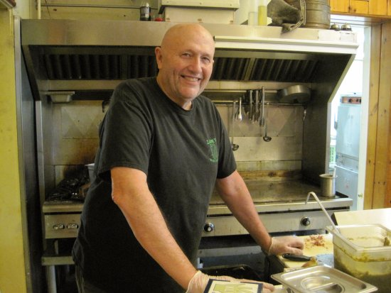 """Lewiston, ID: The """"old man"""" cooking the food. Thank you Steve."""