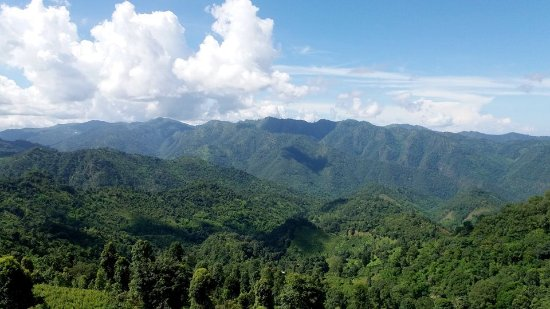 Hsipaw, Myanmar: A panoramic view from one mountain ridge to another on the way to the village for the night!