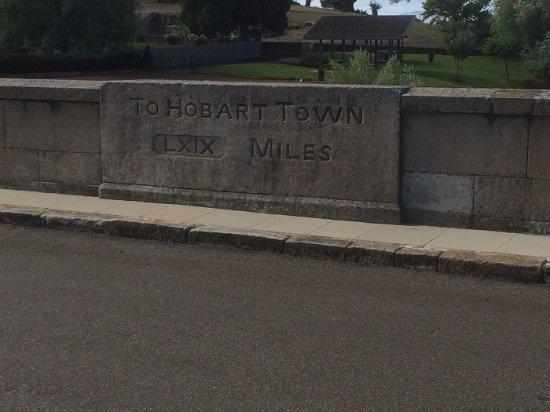 Tasmania, Australia: Inscription On The Bridge Wall