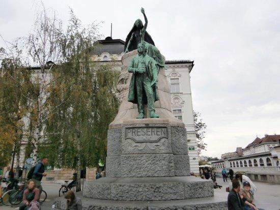 France Prešeren statue