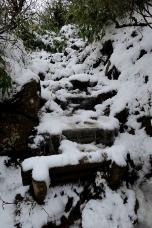 Fukushima Prefecture, Japan: 最後の20分は深い雪道を登ることに・・・