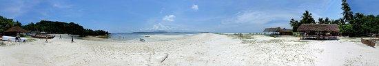 Nosy Iranja : Panoramique de la plage