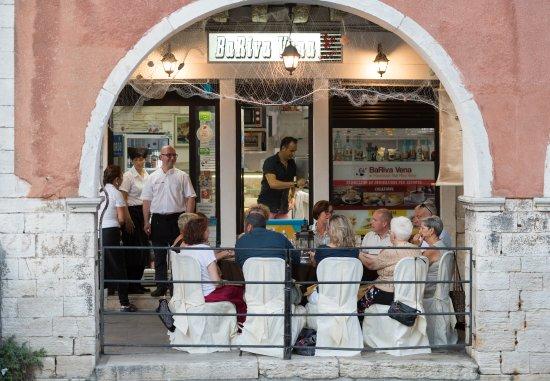 In occasione della sagra del pesce che si tiene a Chioggia nel mese di Luglio.
