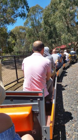 Box Hill, Australië: Riding the miniature train