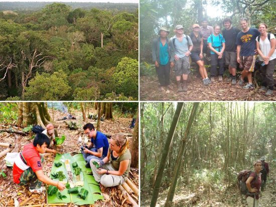 Luang Namtha, Laos: Primitive Meal, Trekking Friends and Views