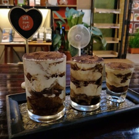 At Home Cafe: Best coffee with best tiramisu