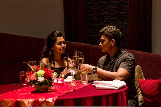 Amari Ocean Pattaya: Enjoying a pan Asian 7 course meal at the Mantra restaurant.