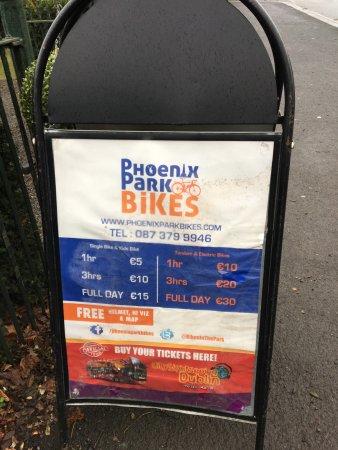 Phoenix Park: il negozio per noleggiare le bici