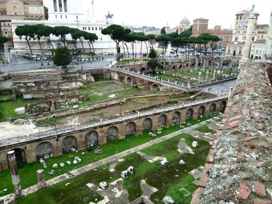 foto dalla terrazza panoramica - Mercati di Traiano - Museo dei Fori ...