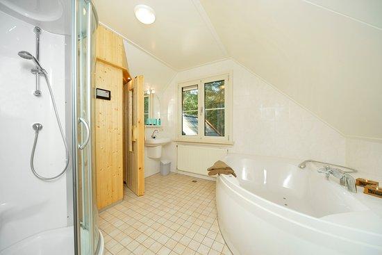 Kleine Wellness Badkamer : Badkamer met sauna en 2 persoons whirlpool 4 5 pers. wellness