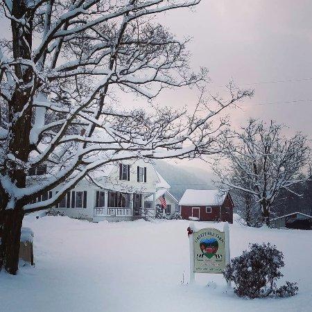 Liberty Hill Farm Inn: First real snowfall December 2017