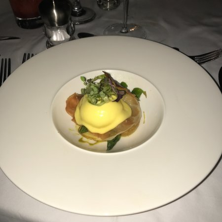 Holetown, Barbados: Poached egg and asparagus Starter