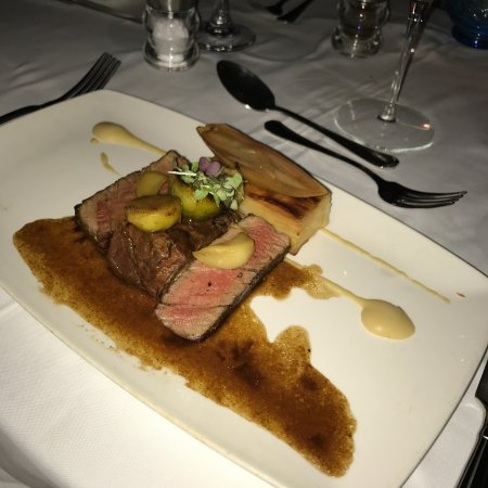 Holetown, Barbados: 12 hour braised Rib and Fillet with Dauphinouse