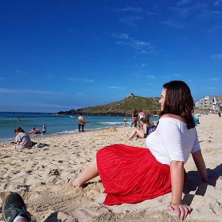 Porthmeor Beach: Taking in the stunning view