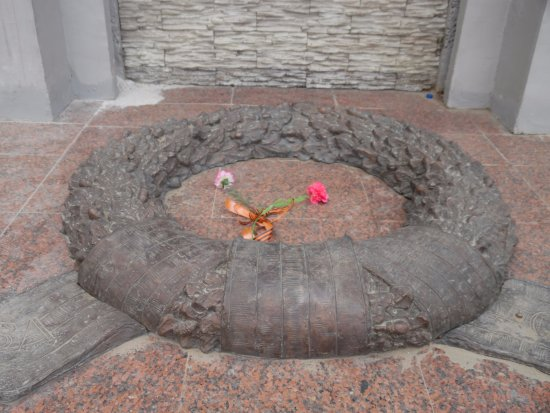 Memorial Complex of the Soldier of Tyimaady: concrete wreath