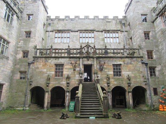 Chillingham Castle: The inner courtyard
