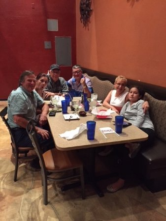 Comedor Guadalajara: Eating with family and friends is the best. My son took the photo so he's not in it.